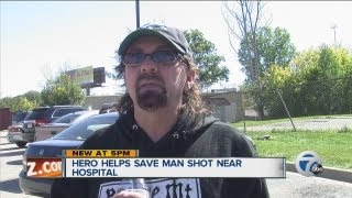 Hero saves man near hospital