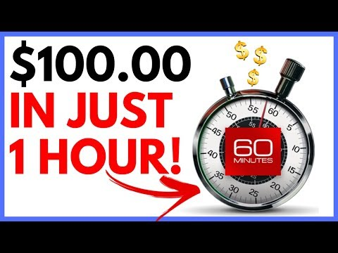 Make $100 in 1 Hour | How to Make Money Online