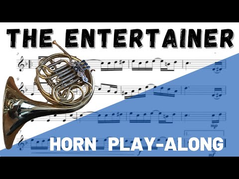 The Entertainer Horn In F Solo. Play-Along/Backing Track. Free Music!