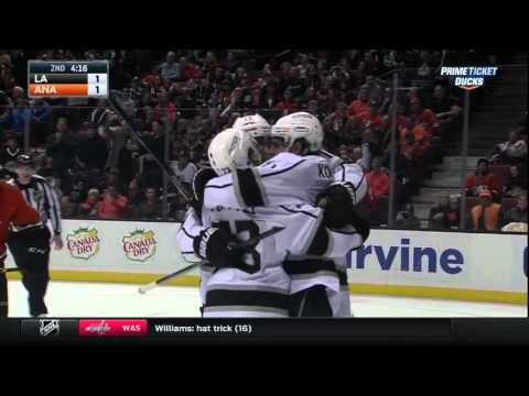 Kings @ Ducks Highlights 01/17/16