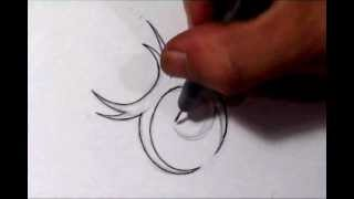 Taurus Tattoos - How To Draw a Simple Tribal Star Sign