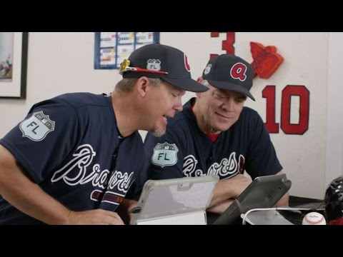 Chipper and Dale sell tickets to Braves fans
