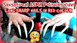 Sensational Asmr long SHARP  nails Polishing  BEST  CLOSE UP asmr! Perfect TINGLES and TRIGGERS  💅