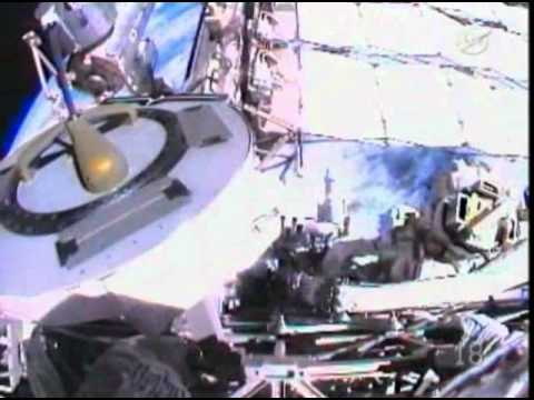 STS-134 Greg Chamitoff Space Shuttle/ ISS commemoration USOS complete