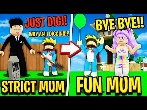STRICT MOM vs FUN MOM in Roblox BROOKHAVEN RP!!