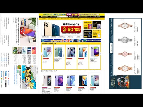 Thiết kế website bán hàng giống web thế giới di động bằng html, css, javascript P5