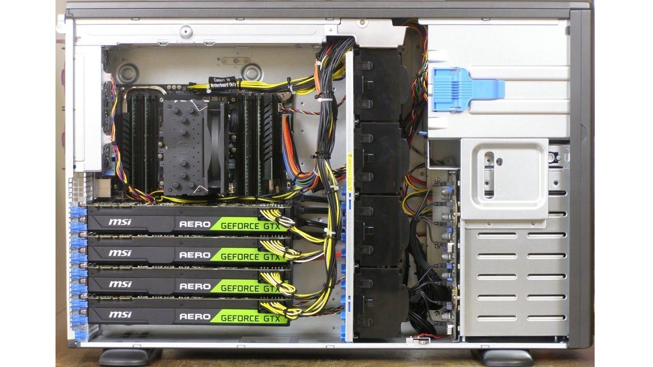 Quad GPU rendering server - 4x GeForce GTX1080 Ti