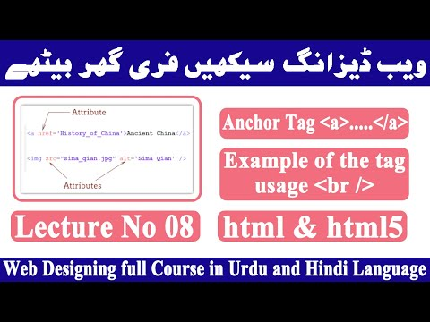 Anchor Tag (a Tag) Html5 Tutorial In Hindi-urdu