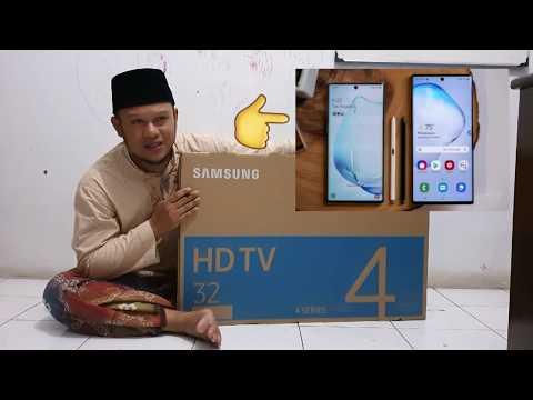 Review Unboxing HDTV Samsung 32 N4001 Bonus Samsung Galaxy Note 10 Plus