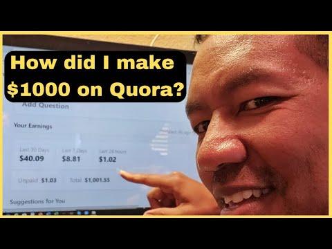 Passive Income Idea - How to Make $1000 on Quora