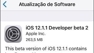 IOS 12.1.1BETA 2! As coisas estao melhorando.