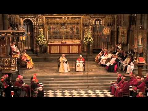 Pope Benedict XVI - Evensong in Westminster Abbey - Full Vid