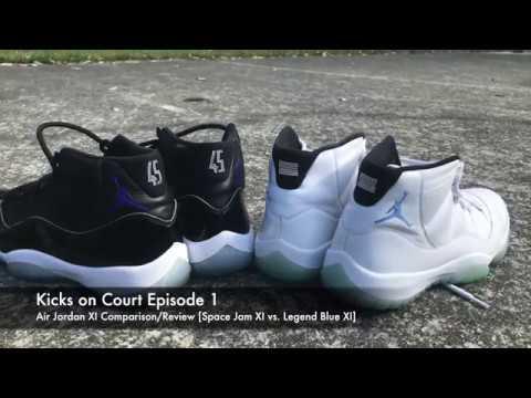 f72449260b1e Kicks on Court 1  Air Jordan 11 Review and Space Jam vs Legend Blue  Comparison