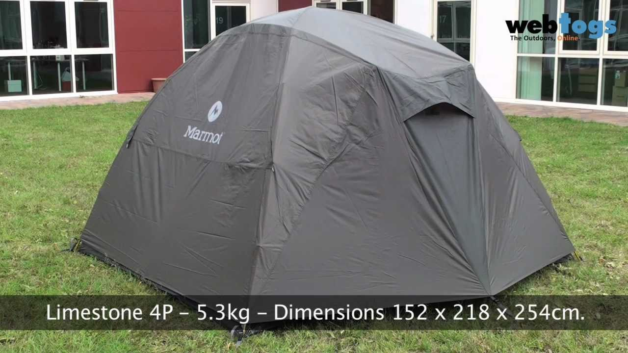 Marmot Limestone Tents - Comfort and space for family u0026 base c&ing. - YouTube & Marmot Limestone Tents - Comfort and space for family u0026 base ...