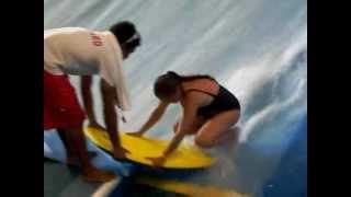 rachel top comes off on water board ride