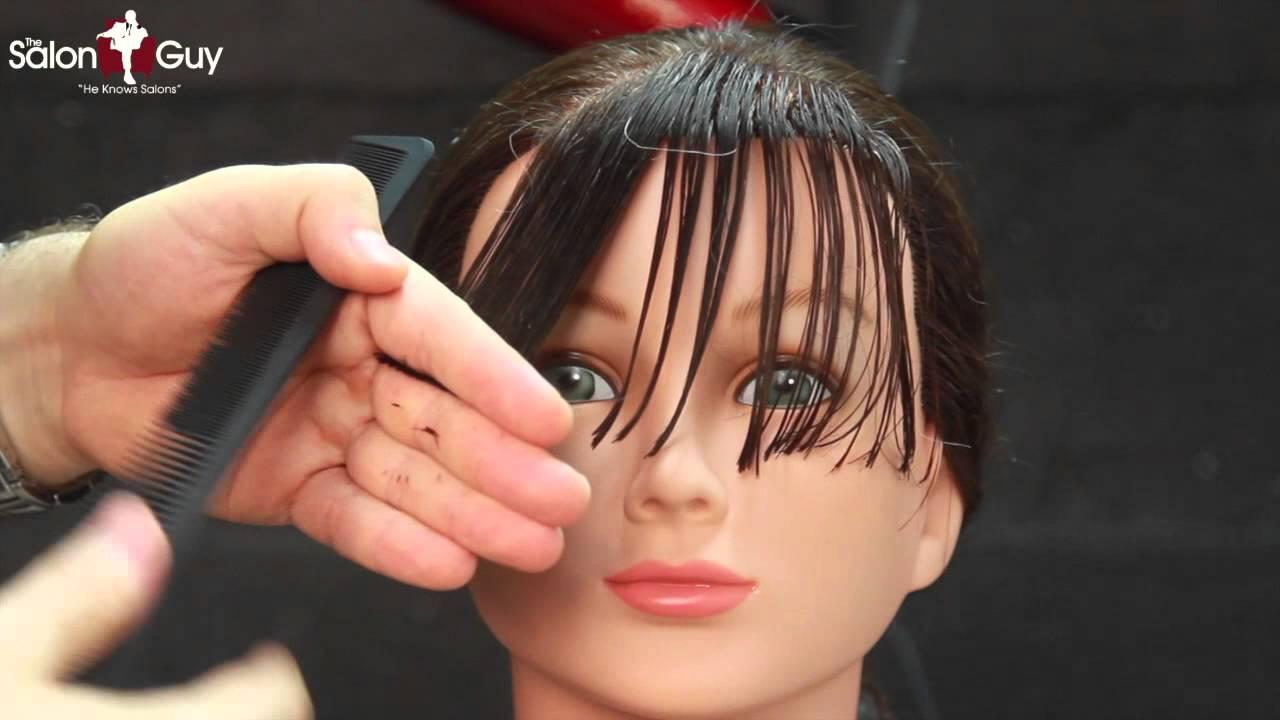 Side Bangs Haircut Or Sweeping Bangs Fringe Tutorial Youtube
