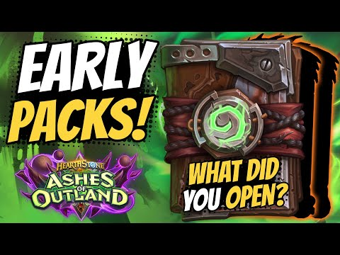 OPENING PACKS EARLY!?! Learn How & See How Many Legendaries I GOT! | Ashes Of Outland | Hearthstone