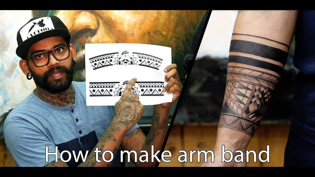 How To Make Arm Band Tattoo Tutorial Part 9 Youtube
