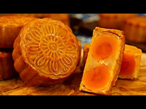 cantonese-mooncake-recipe-(双黄白莲蓉月饼)