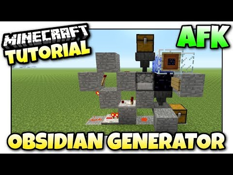Minecraft Xbox - AFK OBSIDIAN GENERATOR - Redstone Tutorial - MCPE / PS4 / PS3 / Switch