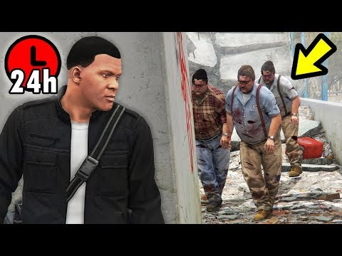 GTA 5 - SURVIVE a Zombie Apocalypse for 24 Hours! thumbnail