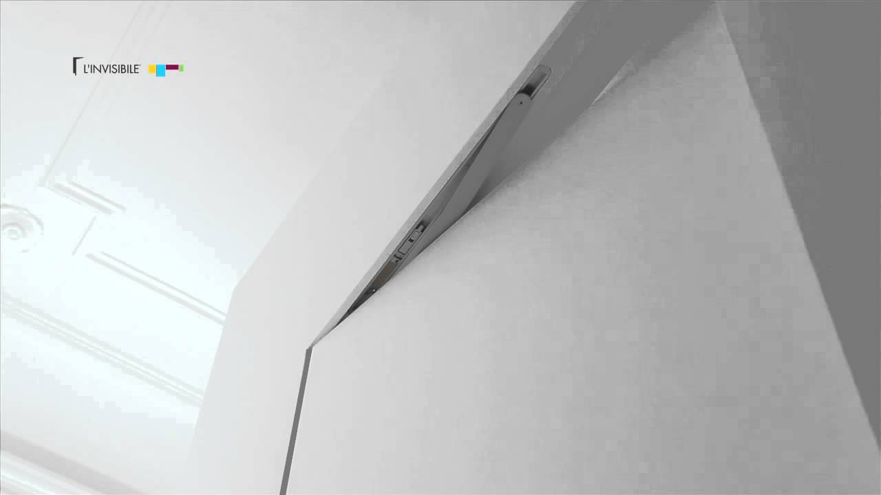 Chiudiporta a scomparsa su porta a battente linvisibile concealed door closer youtube - Porta a scomparsa cartongesso ...