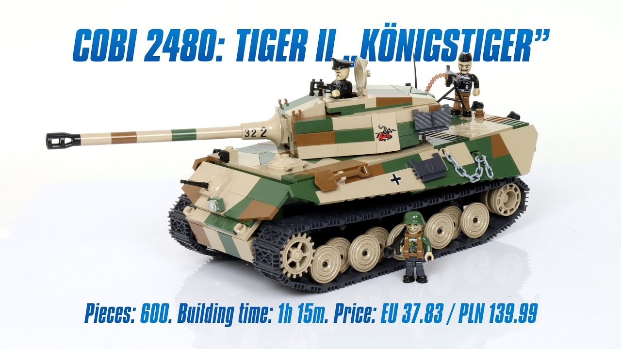 COBI 2480 Tiger II PzKpfw VIB Knigstiger Review Speed Build