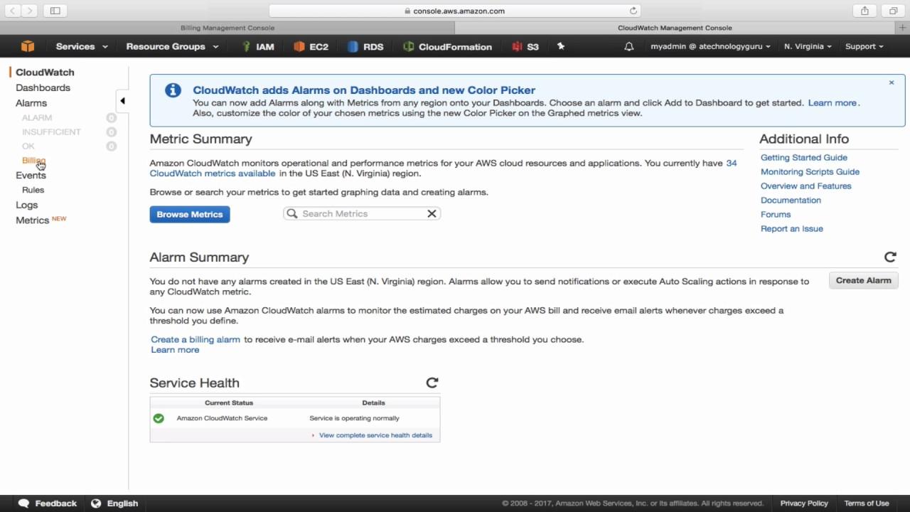 AWS - How to configure Billing Alert using CloudWatch