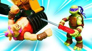 видео: Видео игры для детей - Черепашки Ниндзя и крутые машинки!