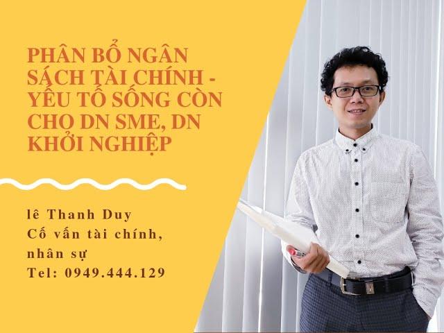 Phân bổ ngân sách tài chính doanh nghiệp - Lê Thanh Duy
