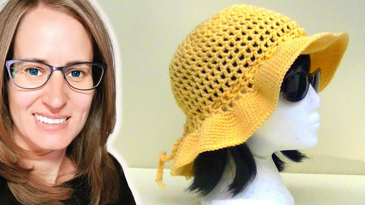 Mesh Sun Hat Crochet Tutorial - YouTube