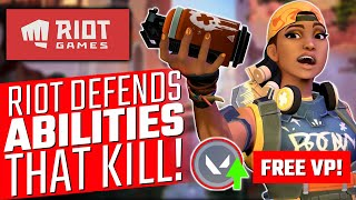 Valorant: Riot Defends Abİlities that KILL! - How to Get FREE VP!