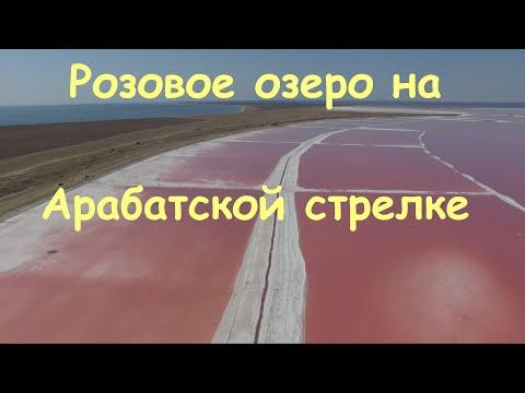 Волшебное розовое озеро   Розовая соль Арабатской стрелки