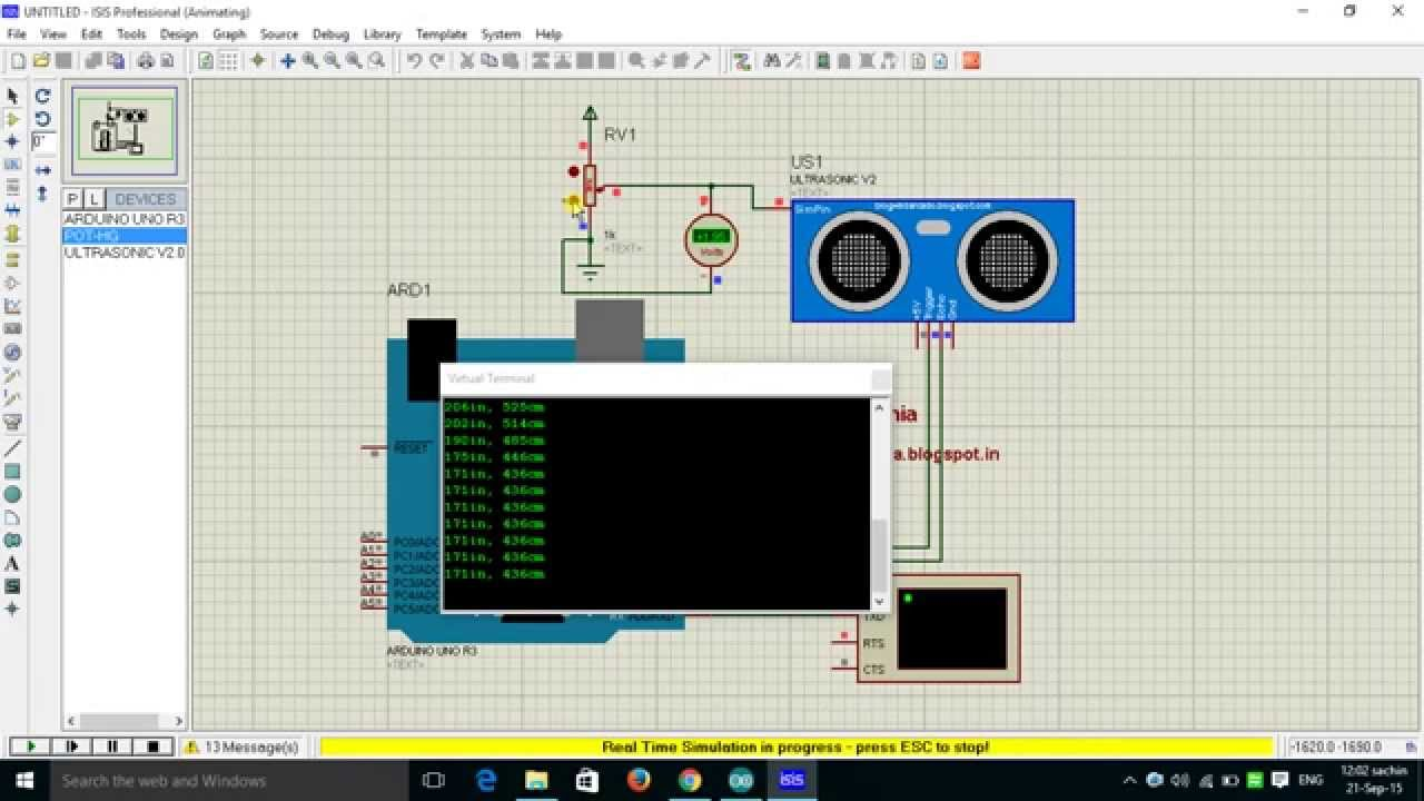 ultrasonic proximity detector project report Title: ultrasonic proximity detector for blind page link:  report project on blind guard, safety guard for blind circuit diagram using microcontroller,.