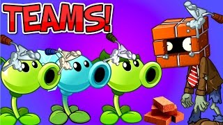 TEAMS Plants vs. Zombies 2 vs Brickhead Zombie ✔