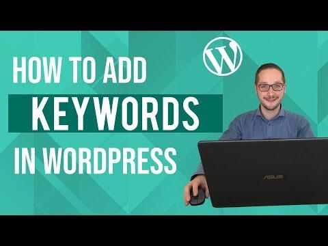 How to add keywords in Wordpress Tutorial thumbnail