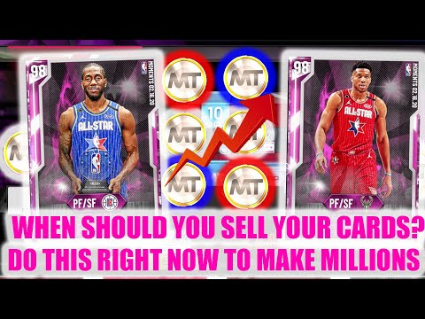 WHEN SHOULD WE SELL OUR CARDS? DO THIS RIGHT NOW! | NBA 2K20 MY TEAM