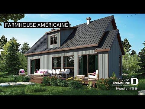 Plan de maison style fermette moderne de dessins drummond plan 3988 youtube