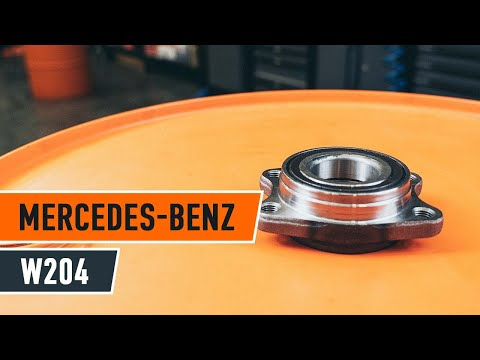 How to replace rear wheel bearing MERCEDES-BENZ C W204 TUTORIAL | AUTODOC