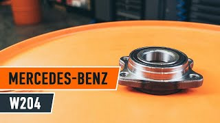 How to change rear wheel bearing MERCEDES-BENZ C W204 TUTORIAL | AUTODOC