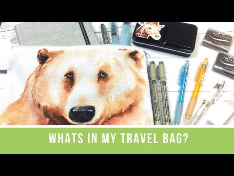 What's In My Travel Bag?   A Look at My Watercolor Travel Supplies & Sketchbook