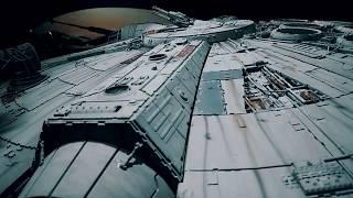 Not CGI. Inside Real UFO Alien Extraterrestrial Spaceship With Robots -Star Wars Episode 9 Movie Set