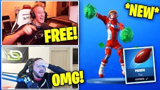 "STREAMERS REACT TO *FREE* PIGSKIN TOY & ""CHEER UP"" EMOTE! 