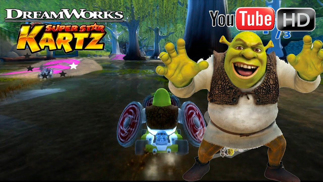 DreamWorks Super Star Kartz [Xbox360] - Shrek Race | ✪ Wind Cup ✪ | TRUE HD QUALITY - YouTube