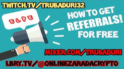 How to get REFERRALS and earn more Crypto with FREE Sites
