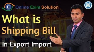 What Is Shipping Bill in Export Import || Export Import Training Center || Paresh Solanki