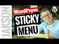 WordPress Sticky Menu How to Add an On Scroll Sticky Navigation Bar 2017