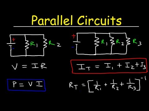 Parallel Circuits With Resistors, Ohm's Law, Voltage, Current, Resistance, & Power