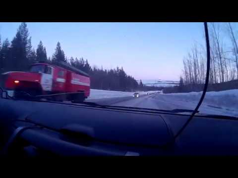 Авария недалеко от Апатит 20.03.2017