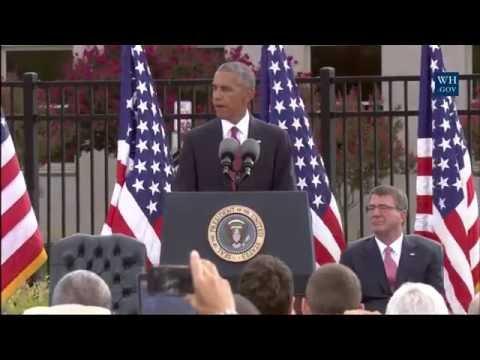 President Obama Speaks at the Memorial Observance